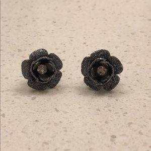 Betsey Johnson Flower Stud Earrings